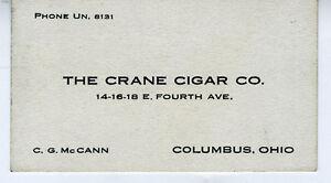 1920s-Adv-Business-Card-The-Crane-Cigar-Company-Columbus-Ohio
