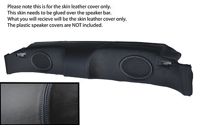 blue stitching FITS MG MGF MGTF 95-05 SPEAKER BAR LEATHER SKIN COVER ONLY