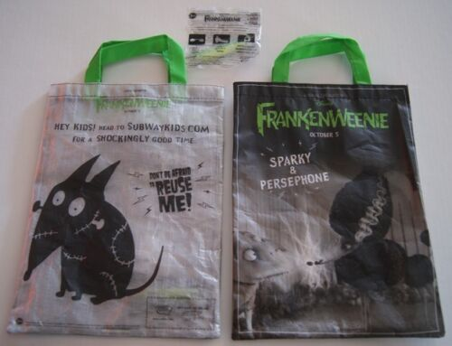 SDCC Comic Con 2012 EXCLUSIVE Frankenweenie reusable bag Sparky & Persephone