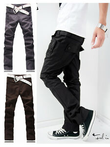 New-Men-Fashion-Korean-Style-Slim-Fit-Pocket-Design-Casual-Pants