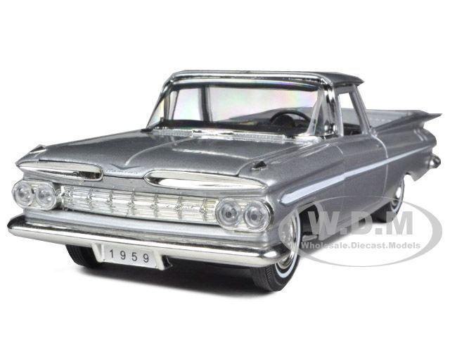1959 CHEVROLET EL CAMINO SILVER 1:32 DIECAST MODEL CAR SIGNATURE MODELS 32438