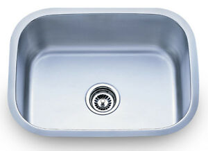 Dowell Sinks : Dowell-6001-2317-18-Gauge-Single-Bowl-Undermount-Stainless-Steel ...