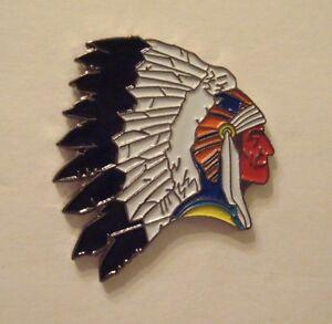American-INDIAN-CHIEF-Native-Tribal-Biker-Souvenir-LAPEL-PIN