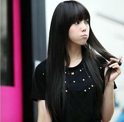 New STYLE Fashion Long straight Cosplay women's Girl Hair Full Wig Hotter
