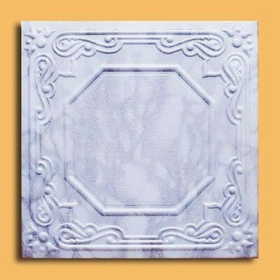 STYROFOAM CEILING TILE 20X20 LISBONA Marble Chalcedony , EASY INSTALAT., Painted
