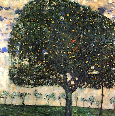 GUSTAV KLIMT :: APPLE TREE 2 ( APFELBAUM ) :: 24 INCH CANVAS FINE ART PRINT