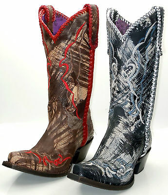 Lucchese since 1883 I4912 & I4913 Womens Western Cowboy Boots Brushed Calf