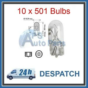 10-x-501-sidelights-w5w-sidelight-number-plate-bulb