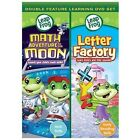 LeapFrog: Math Adventure to The Moon/Letter Factory (DVD, 2010)