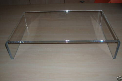 ACRYLIC PERSPEX PC MONITOR LCD TV RISER STAND SHELF slight seconds