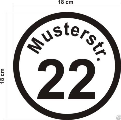 Hausnummer Nummer  Mülleimer Aschentonne Aufkleber Neu