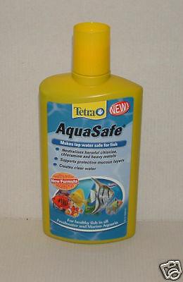 TETRA AQUASAFE 500ml Tap Water Conditioner. Aquarium