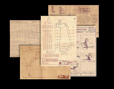 WW2 German Flugzeug Bauplan Blueprints - Me109 & Fw190