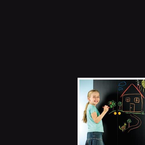 1.5mX67.5cm CHALK BLACK BOARD BLACKBOARD STICKY BACK PLASTIC SELF ADHESIVE VINYL