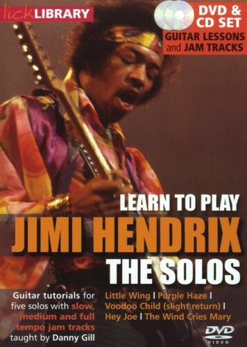 LICK LIBRARY LEARN TO PLAY JIMI HENDRIX THE SOLOS DVD