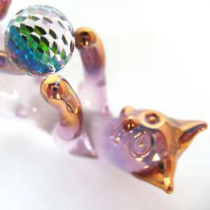 Cat-Kitten-Feline-Figurine-of-Hand-Blown-Glass-Crystal