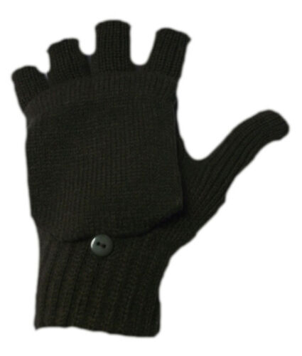 G20 MENS THERMAL OUTDOOR WINTER MULTI USE 2in1 FINGERLESS MITTEN COMBO GLOVE NEW