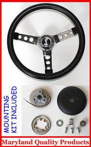 1970-1978-Mustang-Cobra-II-Black-Steering-Wheel-14-1-2-034-Cobra-Snake-Center