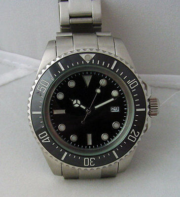 Submariner Deep Sea Dweller Diver 44mm Automatic Ceramic Bezel Watch