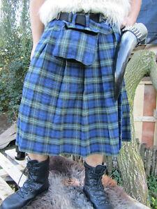 Schottenrock-Kilt-Tartan-Rock-Mittelalter-Schottenrock-3-Farben-Rot-Blau-Weiss