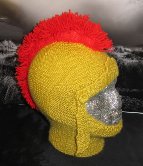 PRINTED KNITTING INSTRUCTIONS- ROMAN GLADIATOR BALACLAVA HAT KNITTING PATTERN