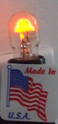 Vintage Screw in USA NEON ORANGE GLOW Nite Lite Night Light Lamp Bulb Free Ship