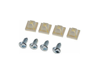 License Plate Nylon Nut and Slotted Screw Set 8pc - NEW