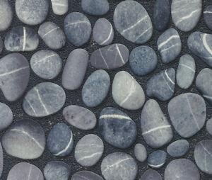 ... Rasch Vlies Tapete Steine Grau Blau Aqua Deco