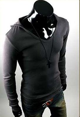 Mens Stylish Slim Line Hoodie Shirts (4 color, XS~XL)