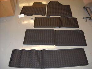 2011 2012 toyota sienna, all weather floor mats oem, black pu320