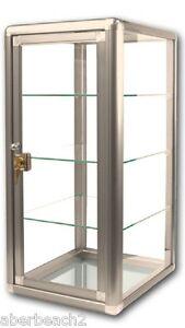 Glass-Countertop-Display-Case-Fixture-Showcase-Key-lock-3-shelves-BRONZE