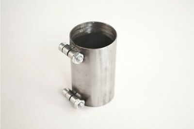 """1.75"""" inch 45mm Exhaust Pipe Sleeve Stainless Connector"""