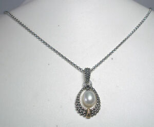 STERLING-SILVER-amp-14K-GENUINE-FRESHWATER-PEARL-NECKLACE