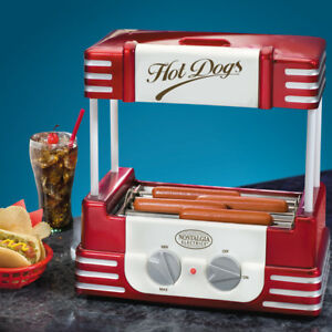 nostalgia retro hot dog roller machine home electric hotdog rolling grill ebay. Black Bedroom Furniture Sets. Home Design Ideas