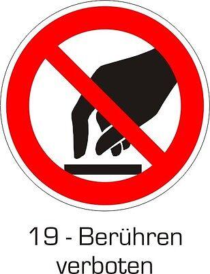 30x45cm Schild Aufkleber Verbotszeichen nach Wahl Text und Zeichen nach Wunsch