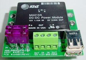 Switching Power Supply FOR GENERATORS OUTPUT 5 Volt 2 amp Isolated - 2 USB CONNS
