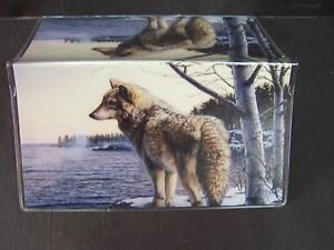 WOLF BY THE LAKESIDE #1 CHECKBOOK COVER