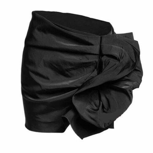 LANVIN H&M BLACK RUFFLE BUSTLE COCKTAIL PARTY PENCIL SKIRT 14 10 40 RARE NEW