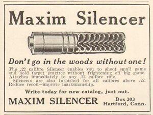 1911-antique-MAXIM-Gun-SILENCER-22-Caliber-FIREARM-Shooting-SPORTING-Ad
