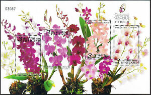 Thailand-Stamp-Royal-Orchid-Paradise-2011-S-S-Ovpt-Royal-Orchid-Exhibition-Logo