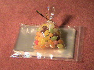 PACK-OF-50-4-034-x-6-034-CELLO-BAGS-FOR-LOLLIPOP-COOKIE-CRAFT