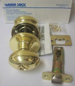 Weiser Ac330c3 Carlisle Bright Brass Privacy Door Knobs