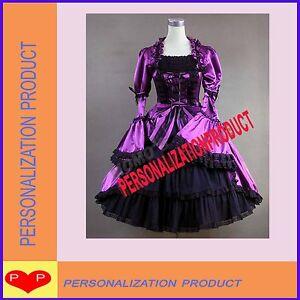 Victorian-Gothic-Lolita-Satin-Purple-Dress-Ball-Gown-2P