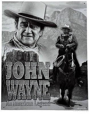 * John Wayne Western Film Plakat Repro-Schild *085