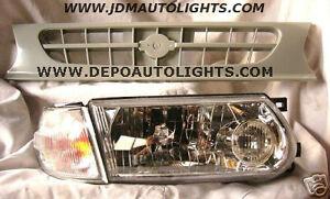 Nissan-Tsuru-B13-Headlights-Grille-Sentra-JDM-91-94
