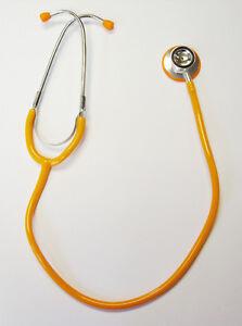 Orange-Stethoscope-Student-Nurse-Vets-Brand-New
