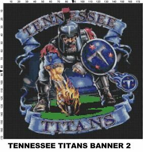 NFL Tennessee Titans Mascot cross stitch pattern | eBay