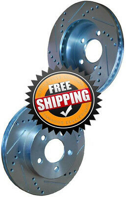 Toyota Camry 87 Drilled Slotted Brake Disc Rotors FRONT
