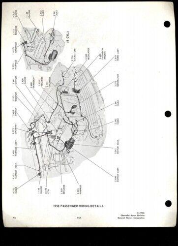 1958-64 Chevrolet Full-Size  Parts Illustration Catalog CD Disc