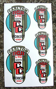 CARLTON-50-039-s-style-Vintage-Cycle-Frame-Decals-Stickers
